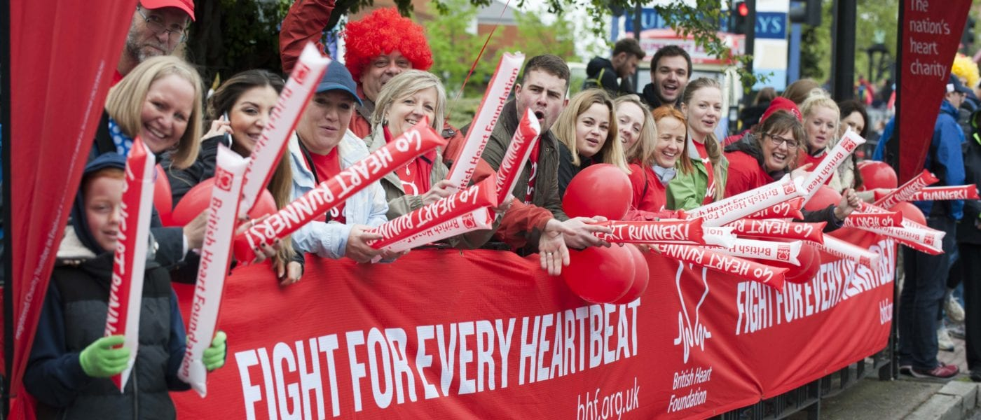 "British Heart Foundation's ""Heart Runners"" after they have completed the Virgin London Marathon 2015. Photography by DFphotography.co.uk / Danny Fitzpatrick"